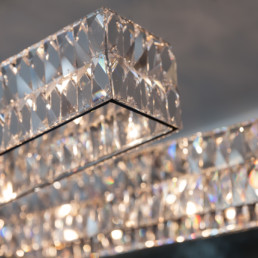 close up of crystal modern lighting - luxury apartments in court house va